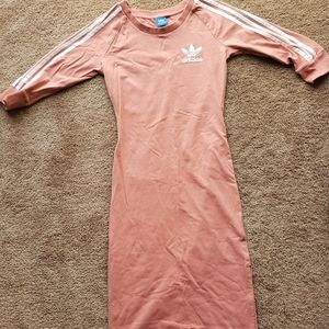 Pink Adidas Sport Midi Dress